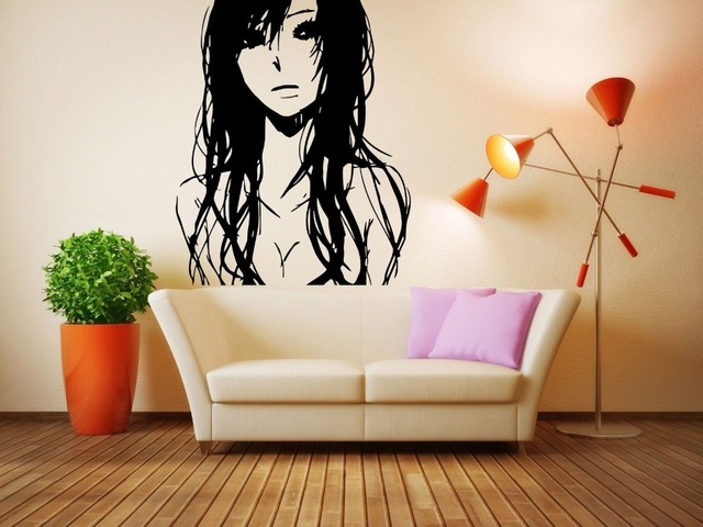 Muur vinyl sticker decals muurschildering kamer ontwerp art sad