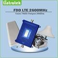 Ganho de 70dB 4g lte 2600 mhz Repetidor de Sinal 4g lte FDD Banda 7 conjunto completo com LPDA Celular signal booster/Teto antena e cabo