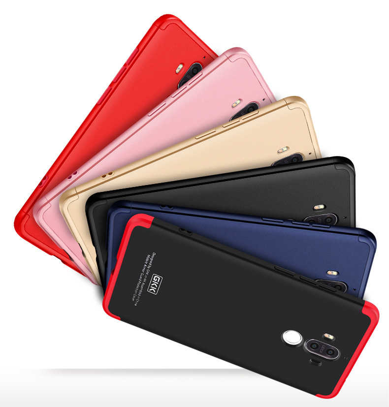 360 Full Protective Coverage Hit Color 3 in 1 Cover For Huawei Mate 9 P9 P10 Honor 8 6X Cases Coque For Huawei P9 Covers Coque