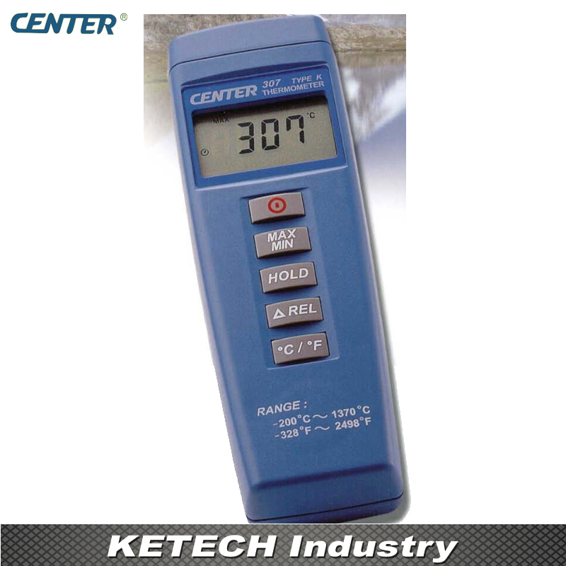 Digital Compact Industrial Thermometer CENTER307 center 307 digital compact low cost thermometer