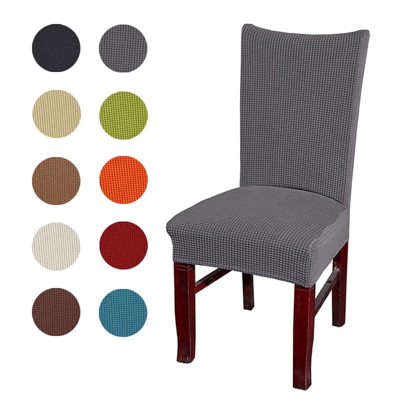 Jacquard Έλεγχος καρέκλα κάλυψη Stretch κάθισμα Καρέκλες Καλύμματα πλύσιμο Δείπνο Προστατευτικό Slipcover για το ξενοδοχείο δεξιώσεων τραπεζαρία διακόσμηση του σπιτιού