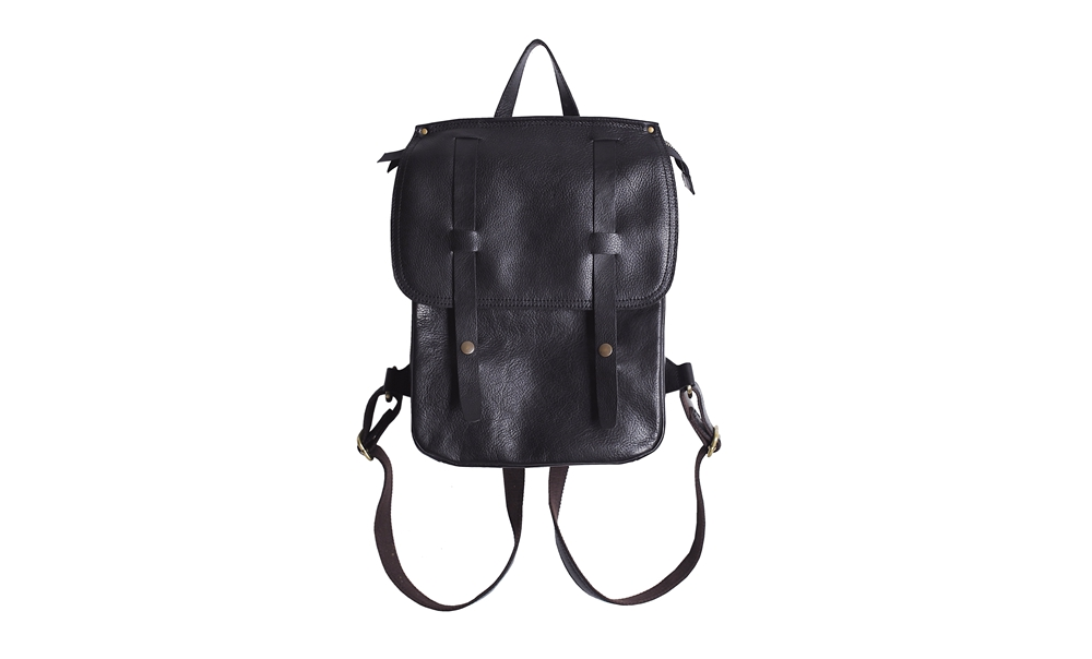 daily life leather backpack women