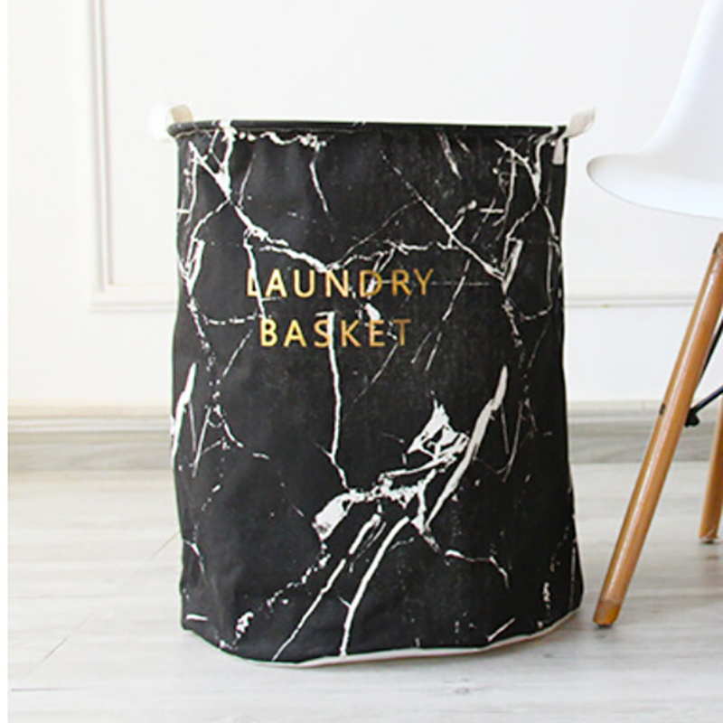 2018 New arrival Marble storage bucket Large designs Laundry Hamper Bag Clothes Storage Baskets Home clothes