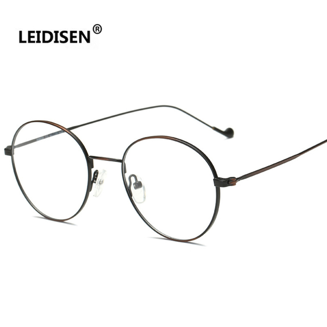 538f4bb06b LEIDISEN Metal Frame Daily Costume Glasses Classic Optics Eyeglasses  Transparent Clear Lens Women Men Reading Glasses Optical. 1 order