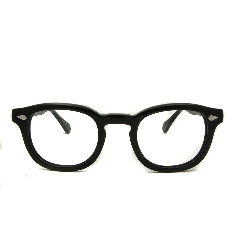 High Quality Acetate Vintage johnny depp Eye Glasses Frame Men Optical Round Eyeglasses Eyewear Frames WomenMyopia Glasses in Men 39 s Eyewear Frames from Apparel Accessories