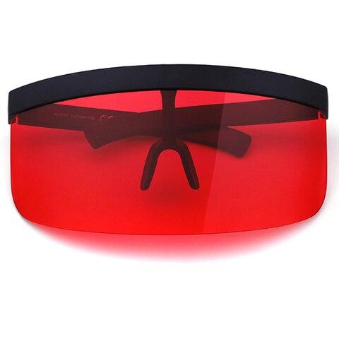 ALOZ MICC Women Oversize Shield Visor Sunglasses Women Retro Windproof Glasses Men Shield Visor Flat Top Hood Eyeglasses Q439 Islamabad