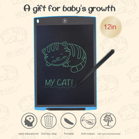 Children's Drawing Board 12 Inch LCD Writing Tablet Drawing Writing Board Office A key To Clear Function Kids Learning Tools