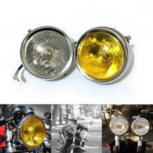 Headlight Motorcycle For Honda Cafe Racer Headlight Vintage Round Chrome Halogen Light