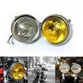 Motocicleta lâmpada de farol de moto do phare para cafe racer farol hornet600 hornet900 vtec vtr250 cb400 cb500 rodada chrome halogênio