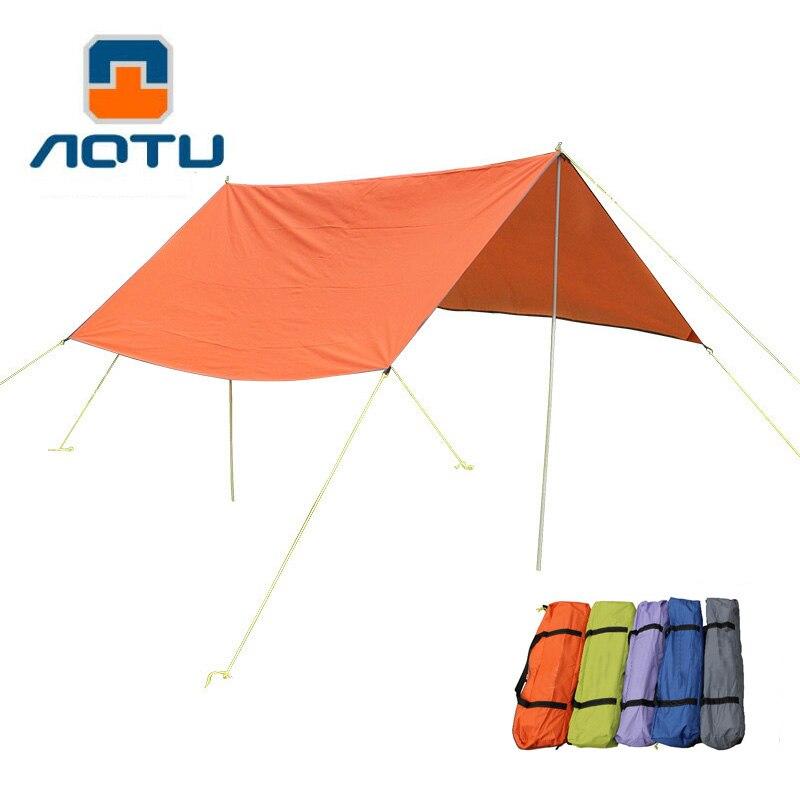 3 M * 3 M Anti UV extérieur abri soleil ombre Portable imperméable Camping coussin randonnée ultra-léger Pergola auvent auvent