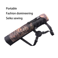 59cm Outdoor Oxford cloth Archery Hunting shoulder/waist style arrow bags arco e flecha shooting arrow quiver Cylindrical Black