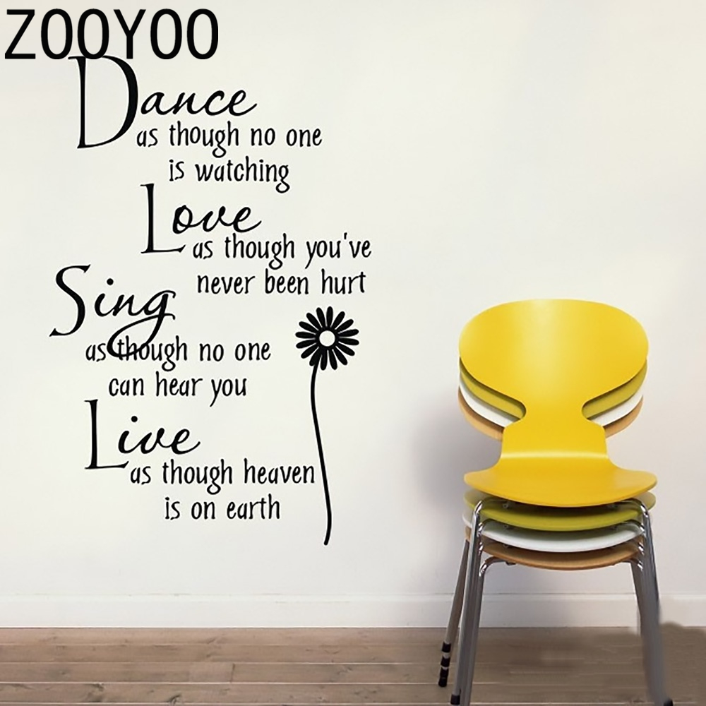 popular kids dance quotes buy cheap kids dance quotes lots from zooyoo alphabet letters dance and love quote wall sticker removable pvc wall sticker decals living room