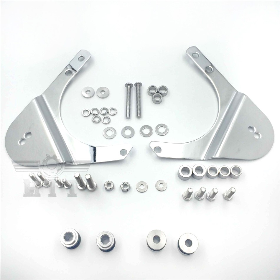 Rear Docking Hardware Kit For 1997-2008 Harley Davidson Touring Road King Road Glide Electra Glide Standard Street Glide CHROMED abs hard saddlebags latch keys for harley road king electra street glide 14 18