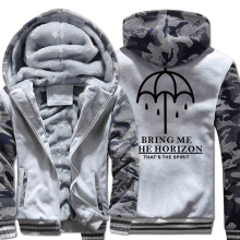 BRING ME THE HORIZON Letter Print Mens Sportswear 2019 Winter Fleece High Quality Hoodies For Men Harajuku New Hoody Sweatshirt