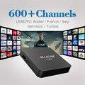 Android6.0 S905X Caixa Smart TV Amlogic 2.4 Ghz Wifi com 1/3/12 Meses Livre Árabe IPTV Europa itália Francês Céu Canal Assinatura