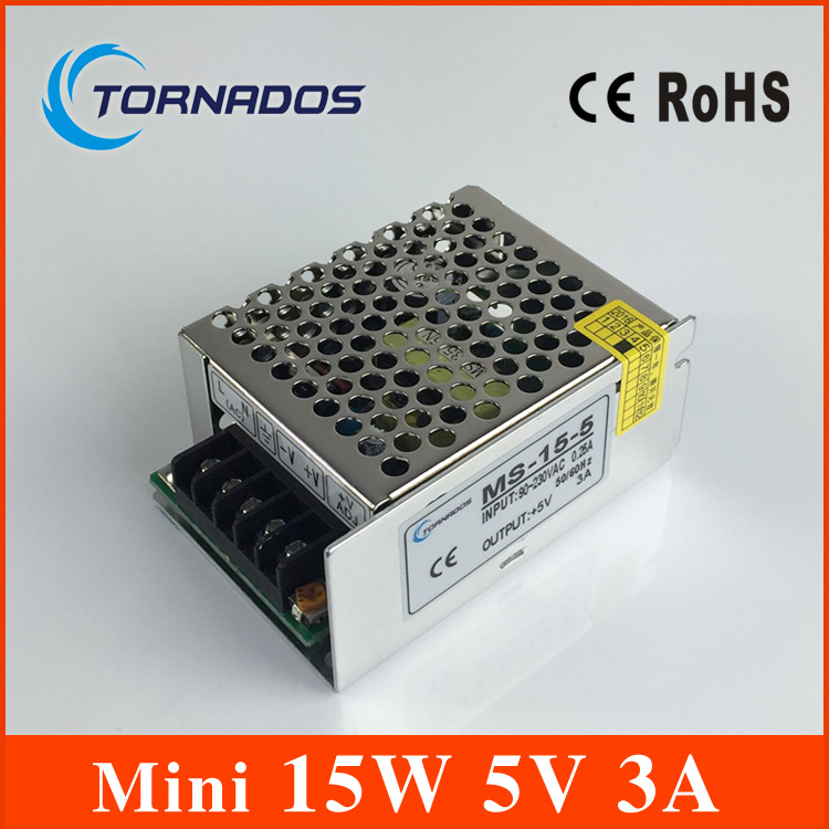 Small Volume Single Output mini size Switching power supply MS-15-5 15W 5V 3A ac dc converter