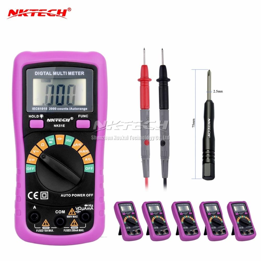6pcs Multimeter NK51E VS MS8233D With 2000uF Capacitance and Frequncy Measurement Auto Range Digital Multimeter 6pcs Multimeter NK51E VS MS8233D With 2000uF Capacitance and Frequncy Measurement Auto Range Digital Multimeter
