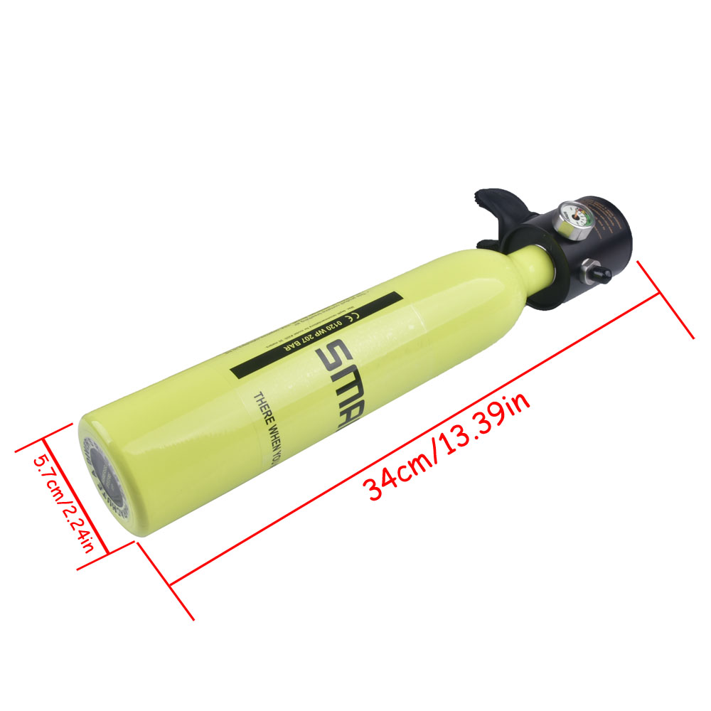 Mini réservoir d'oxygène de plongée sous-marine respirateur respiratoire bouteille d'oxygène équipement de natation adulte - 3