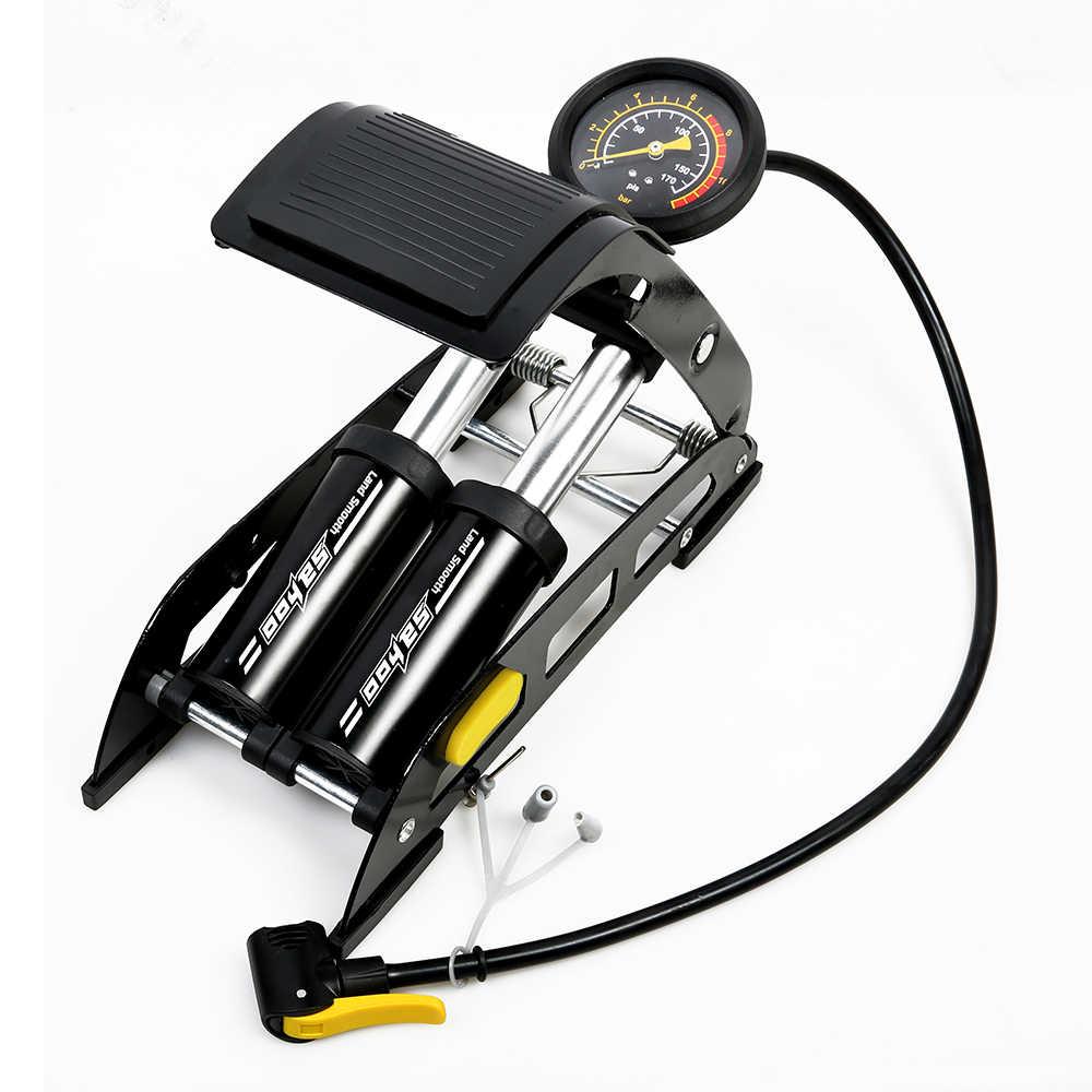 ساحوه 150psi الألومنيوم سبيكة دراجة دراجة القدم مضخة هواء المحمولة الضغط العالي الصلب لا الانزلاق الدراجة نفخ مضخة هواء