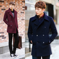 High Quality Winter Parkas Man Pea Wool Coat Male Brand Clothing Long Designer Double Breasted Wool Jackets M-3XL H4775