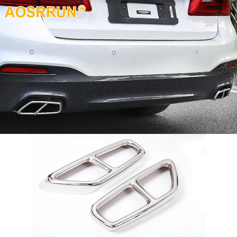 Stainless steel Exhause air filter 2 to 4 Cover Car Accessories For BMW G30 G32 G31 630i 640i 530i GT 2018 image