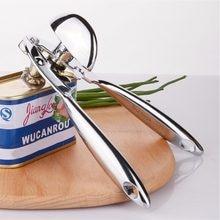 Novo abridor de lata de liga de zinco para alimentos enlatados com ergonomicamente dado forma polegar-parafuso resistente frasco abridor de garrafa acessórios de cozinha