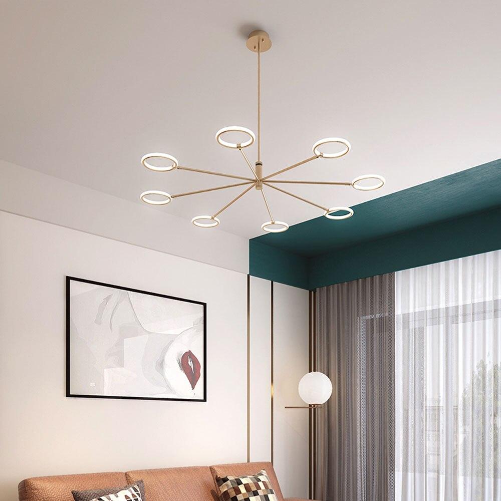 Indoor led ceiling chandelier lighting daily light living room bedroom modern chandeliers lustre home lighting fixtures lampadar in chandeliers from lights