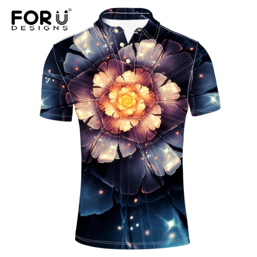 FORUDESIGNS Plus Shirts for Men Elasticity Spandex Short Sleeve European Style Male Polo Shirt Man Brand Clothing Fashion Summer