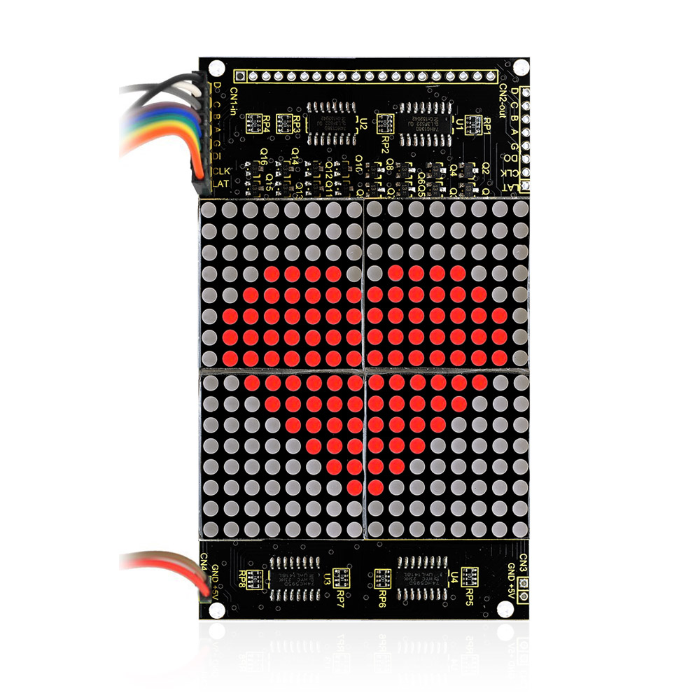 Free shipping! LED dot matrix display module 16 * 16 unlimited cascading / 12864 compatible interfaces for arduino