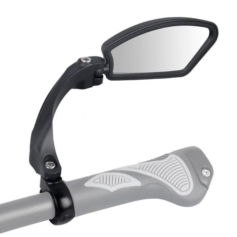 Image 4 - Unbreakable Stainless Steel Lens 1PC Bicycle Rear View Mirror Clear Wide Range Back Sight Bike Reflector Angle Adjustable HafnyBike Mirrors   -