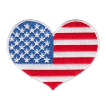Heart I Love The Usa Flag Hat Vest Patch Us Stars N Stripes Pin Up Quilt Gift Customized Factory Any Size Design
