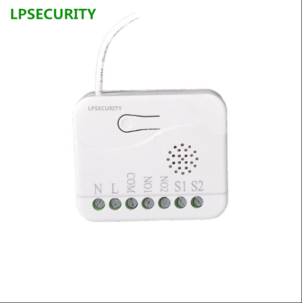 LPSECURITY maison Intelligente Z-WAVE sans fil smart switch module télécommande double relais TZ74 868.42 MHZ 908.42 MHZ 921.42 MHZ