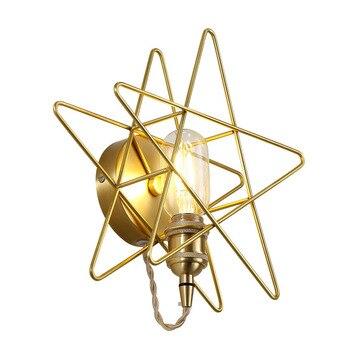 Altın Yıldız Duvar Işık Modern Fantezi Duvara Monte Iç Mekan Aydınlatması Siyah Yıldız Duvar Lambası Başucu Okuma Işıkları Otel Oturma Odası Için