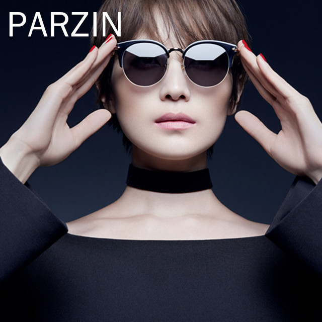 21c95c5446 PARZIN HD Nylon Polarized Sunglasses For Women Vintage Cat Eye Female Sun  Glasses Ladies Shades Accessories With Case 9675