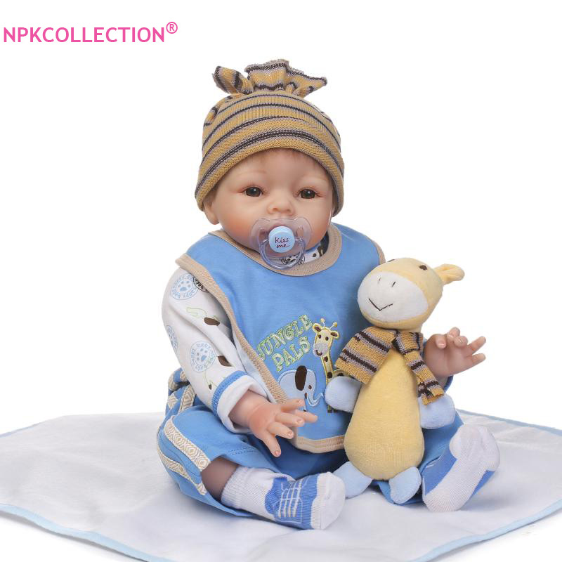 Best Christmas Kids Toys 22 inch Silicone Reborn Boy Doll for Sale Handmade Dolls Toys for Children Gifts Bonecos Bebe Reborn gretchen holt cookies for kids cancer best bake sale cookbook