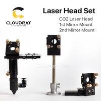 Cloudray HQ CO2 Lente de Enfoque Láser Cabeza 20mm Espejo Reflectante 25mm Integrativa Monte Láser de Grabado y Corte De La Máquina