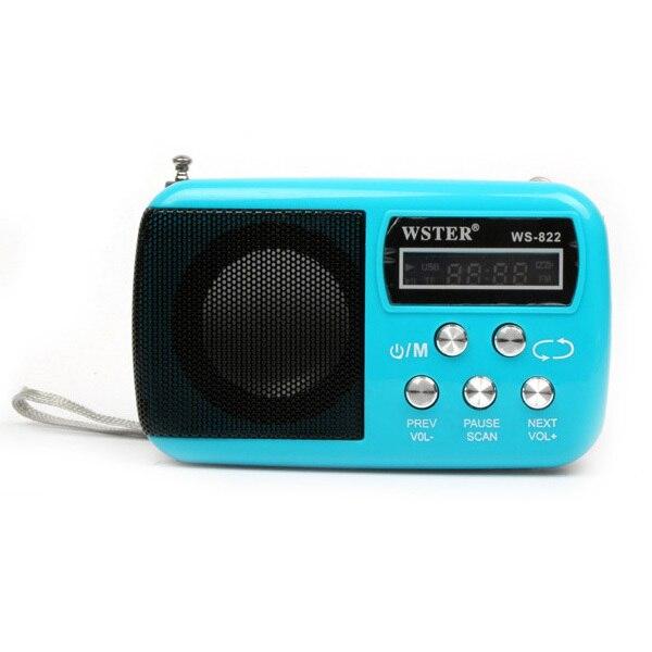 New Fashion Portable Mini FM Radio font b Speaker b font The Aged Best Mini Digital