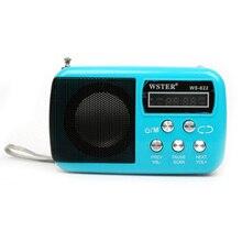 Nueva Moda Portátil Mini Altavoz de Radio FM Ancianos Mejor Mini Digital FM Radio MP3 Con Tarjeta SD USB Altavoz Incorporado WS-822