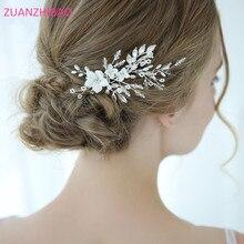 2019 Bridal Hair Combs Accessories Handmade Crystal Rhinestones Pearls Tiaras Flower Hairpins Wedding Jewelry