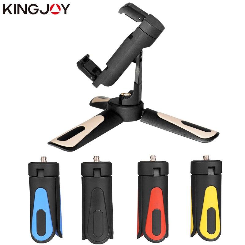 KINGJOY Office KT-18 Mini Trépied Pour Téléphone Stand Tous Les Vidéo Caméra Titulaire Téléphone Trépied Pour Mobile Flexible Trépied Numérique DSLR