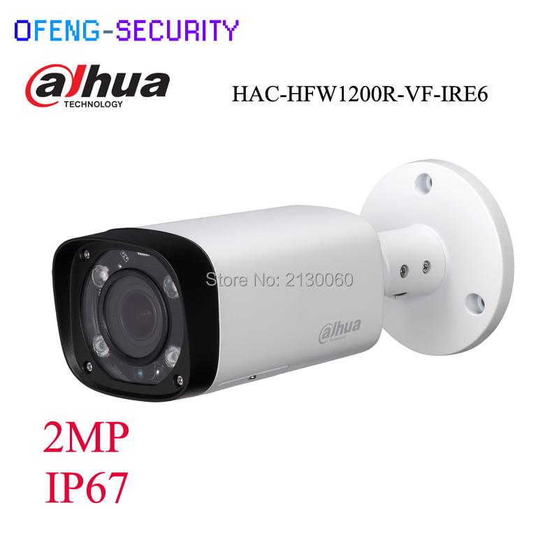 DAHUA DHI-HAC-HFW1200R-VF-IRE6 Dahua original 1080P metal waterproof shell security camera IP 67 CVI camera HAC-HFW1200R-VF-IRE6 full hd security camera hac hfw1220r vf ire6 2mp ir bullet cvi camera 1080p night version cvi camera built in sd