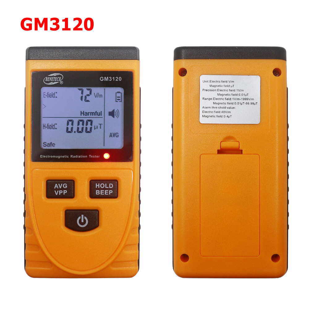 LCD Radiation Dosimeter Meter Handheld Digital Electromagnetic Field Radiation Tester Detector Counter For Magnetic Field GM3120