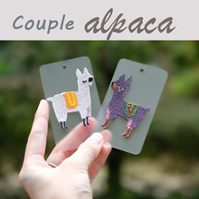 1 Piece Small Alpaca Embroidered Patch Iron on Patches for clothes applique  DIY accessories Crafts(