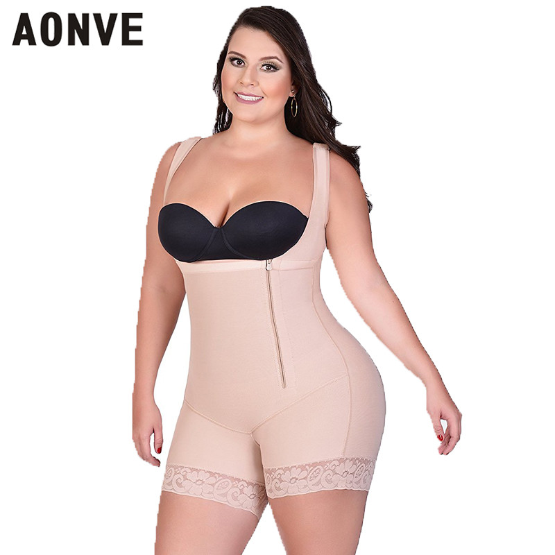 AONVE Women Bodysuit Slimming Sheath Corset Modeling Strap Shaperwear Lace Sexy Body Shaper adjustable straps hooks but lifter