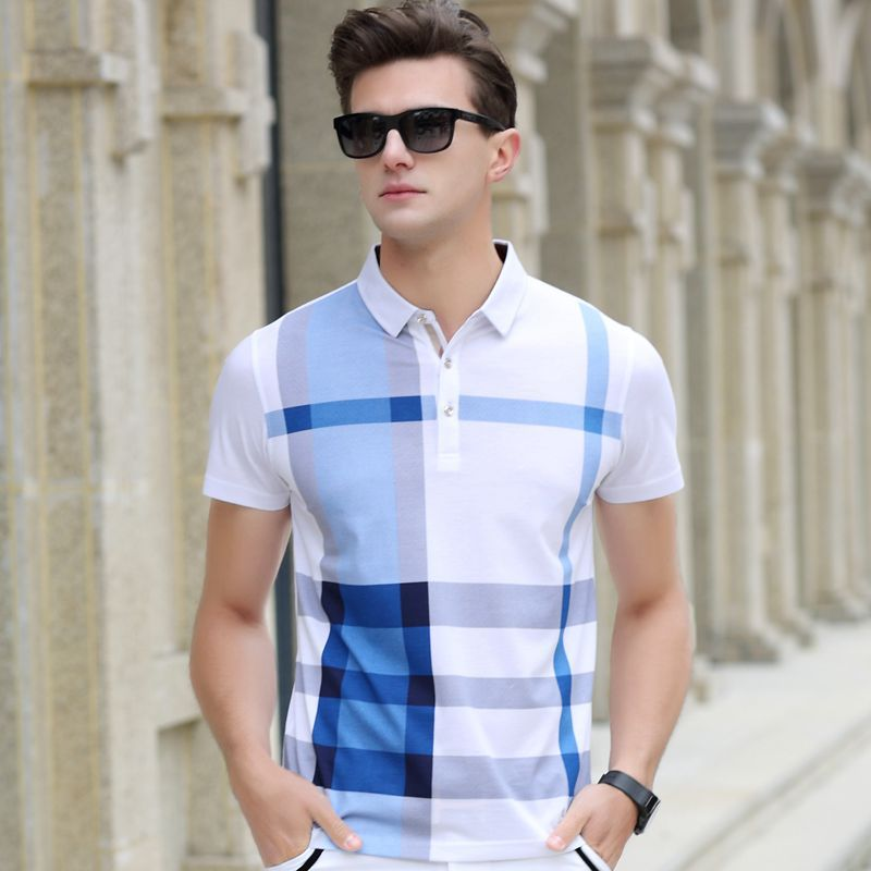 2016-Summer-Men-Polo-Shirts-Plaid-Patchwork-Short-Sleeve-Cool-Mercerized-Cotton-Slim-Fit-Casual-Business (2)