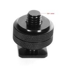 """Kaliou 3/8 """"podwójny adapter śrubowy otwór, aby lampa błyskowa Hot Shoe adapter do montażu do aparatu DSLR Canon Nikon Photo Studio akcesoria"""