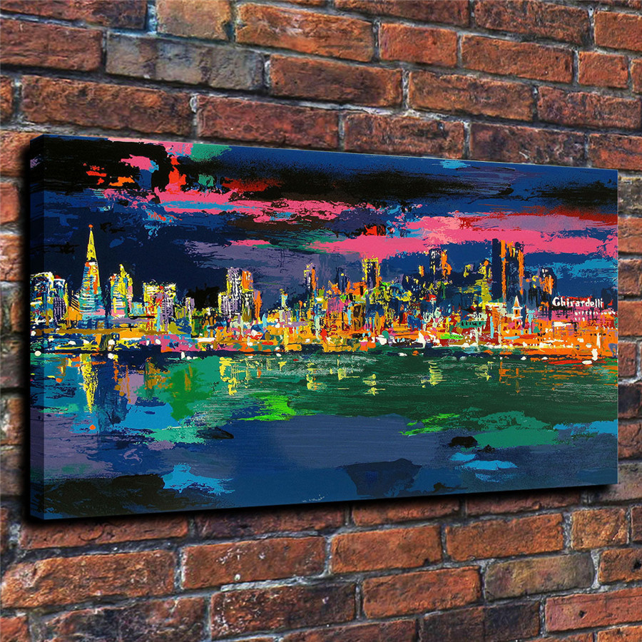 LeRoy Neiman Music and Sports Event Color Print Canvas Painting Living Room Bedroom Home Decor Modern Mural Art Oil Painting#027