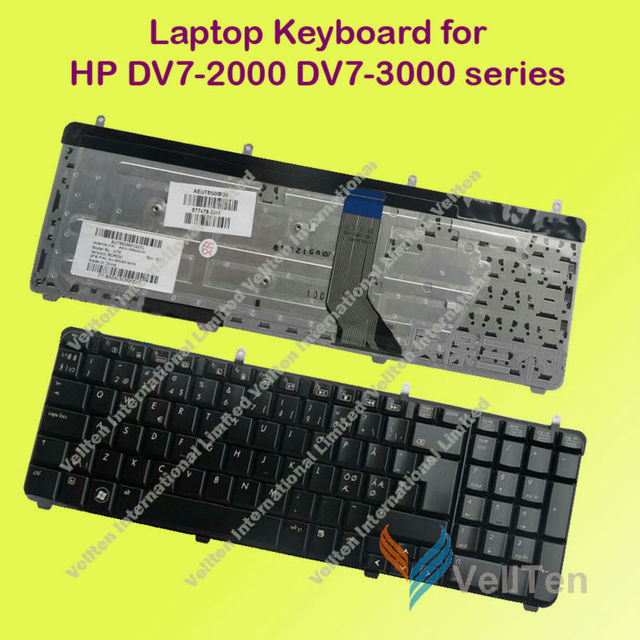 "Original New Notebook Keyboard for HP DV7 DV7-2000 DV7-3000 DV7-3100 Series 17.3"" laptop Swedish version (swe)"