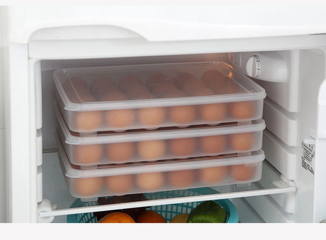 Charmant 24 Grid Egg Storage Box Food Container Keep Eggs Fresh Refrigerator  Organizer Kitchen Storage Containers