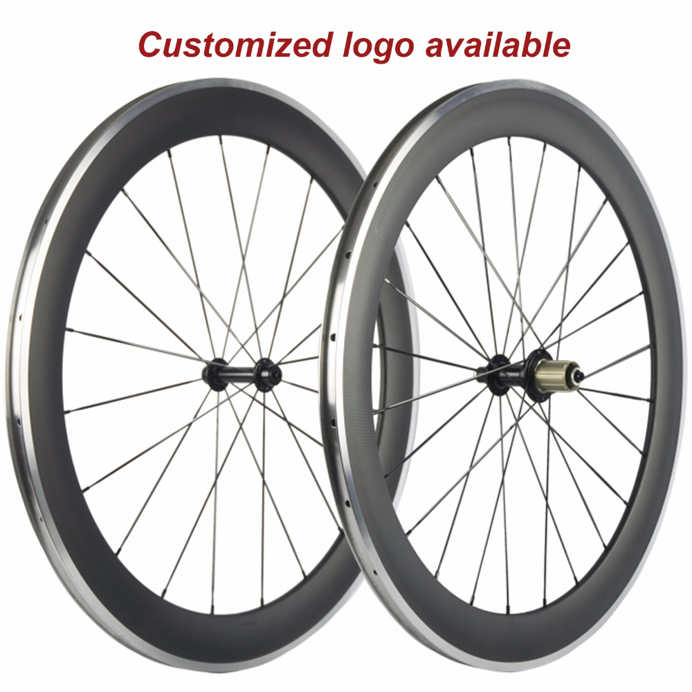 700C 60mm Clincher Carbon Wheels Alloy Brake Surface for Road Bike Aluminium Braking Wheelset 700C 60mm Clincher Carbon Wheels Alloy Brake Surface for Road Bike Aluminium Braking Wheelset